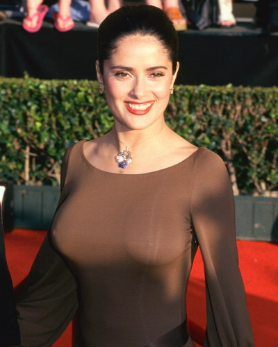 SALMA HAYEK is addicted . . . to BREASTFEEDING.